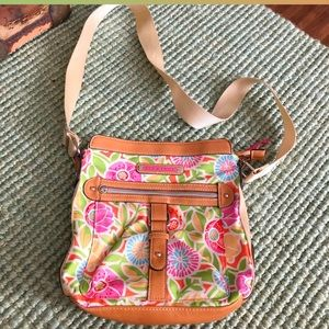 Lily Bloon floral adjustable strap crossbody bag